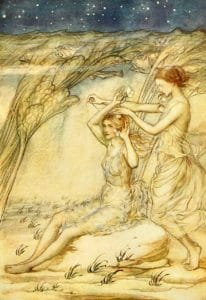 Fairies and Fish in water