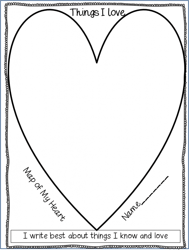 write from the heart template